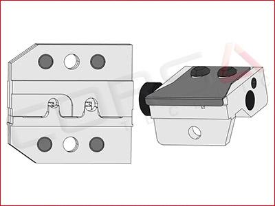 Rennsteig PEW 12 Die Set for Yazaki RH/HS socket terminals