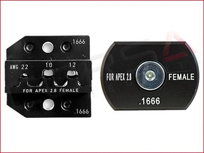 Rennsteig PEW 12 Die Set for FCI/Delphi APEX 2.8 Socket Terminals, 22, 12, 10 AWG