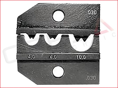 Rennsteig PEW 12 Die Set for non-insulated terminals per DIN 46234, 46235