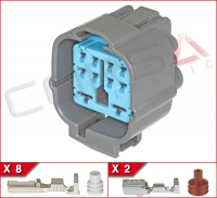 10-Way (8+2) Hybrid Receptacle Plug Kit
