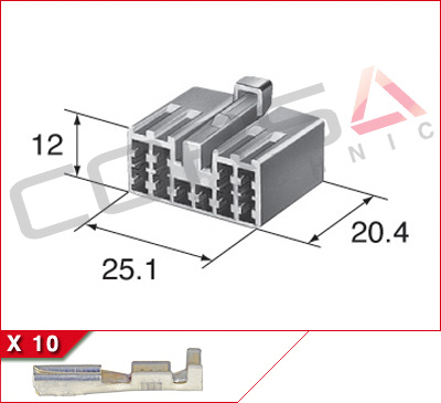 10-Way Receptacle Kit