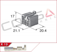 13-Way Receptacle Kit