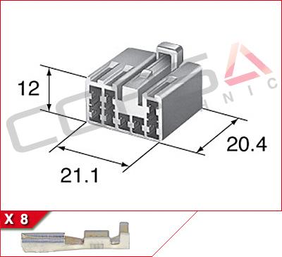8-Way Receptacle Kit