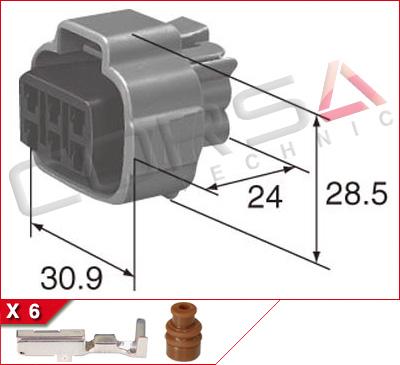 6-Way Receptacle Kit